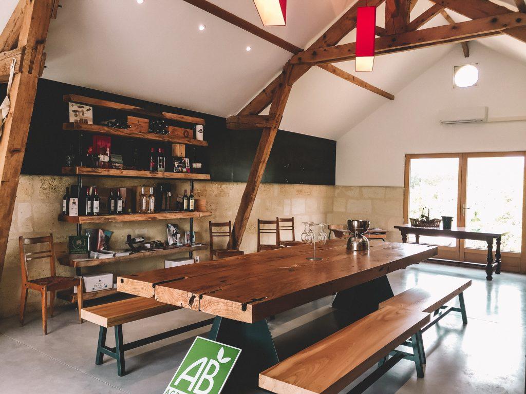 La salle de dégustation - Château de Côts